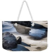 The Unexplored Beach Painted Weekender Tote Bag