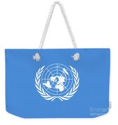 The United Nations Flag  Authentic Version Weekender Tote Bag