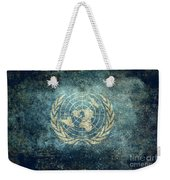 The United Nations Flag  Vintage Version Weekender Tote Bag