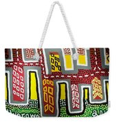 The Up Side Down City Weekender Tote Bag