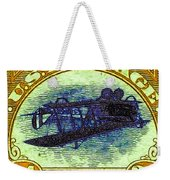 The Upside Down Biplane Stamp - 20130119 - V3 Weekender Tote Bag