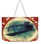 The Upside Down Biplane Stamp - 20130119 Weekender Tote Bag