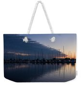 The Urge To Sail Away - Violet Sky Reflecting In Lake Ontario In Toronto Canada Weekender Tote Bag