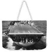 The U.s. Aircraft Carrier Uss Boxer Weekender Tote Bag
