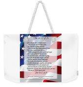 The U.s.a. Flag Poetry Art Poster Weekender Tote Bag