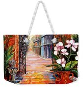 The View From A Courtyard Weekender Tote Bag