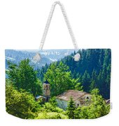 The Village Church - Impressions Of Mountains And Forests Weekender Tote Bag