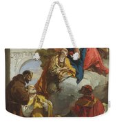 The Virgin And Child Appearing To A Group Of Saints Weekender Tote Bag