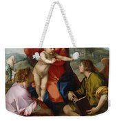 The Virgin And Child Between Saint Matthew And An Angel Weekender Tote Bag