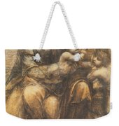The Virgin And Child With Saint Anne And The Infant Saint John The Baptist Weekender Tote Bag by Leonardo Da Vinci