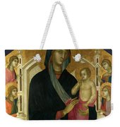The Virgin And Child With Six Angels Weekender Tote Bag