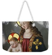 The Virgin And The Child With The Parrot Weekender Tote Bag