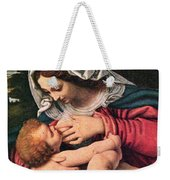 The Virgin And The Green Cushion Weekender Tote Bag