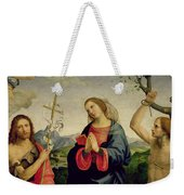 The Virgin With Saints Sebastian And John The Baptist Weekender Tote Bag