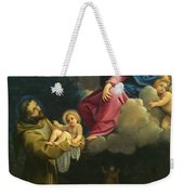 The Vision Of Saint Francis  Weekender Tote Bag by Carracci Ludovico