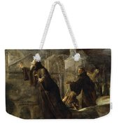 The Vision Of St Francis Of Paola Weekender Tote Bag