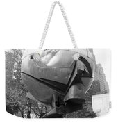 The  W T C Plaza Fountain In Black And White Weekender Tote Bag