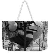 The W T C Plaza Fountain Sphere In Black And White Weekender Tote Bag