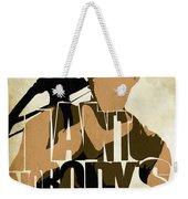 The Walking Dead Inspired Daryl Dixon Typographic Artwork Weekender Tote Bag
