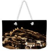 The Walls Of Albarracin In The Summer Night Spain Weekender Tote Bag