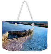 The Water With White Paint Weekender Tote Bag
