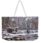The Waterfall Near Valley Green In The Snow Weekender Tote Bag