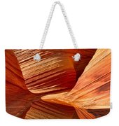 The Wave With Reflection Weekender Tote Bag