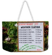 The Weather Report Weekender Tote Bag