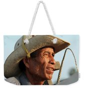 The Weathered Face Of An Ox Cart Driver Weekender Tote Bag