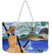 The Welcome River Weekender Tote Bag