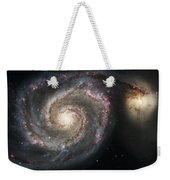 The Whirlpool Galaxy M51 And Companion Weekender Tote Bag by Adam Romanowicz