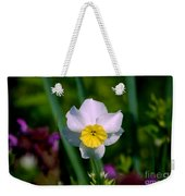 The White And Yellow Daffodil Weekender Tote Bag