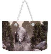The White Buffalo Weekender Tote Bag by Daniel Eskridge