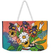 The White Daisy Weekender Tote Bag