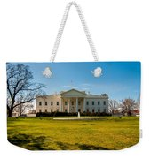 The White House In Washington Dc With Beautiful Blue Sky Weekender Tote Bag