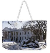 The White House In Winter Weekender Tote Bag