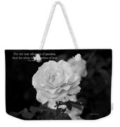 The White Rose Breathes Of Love Weekender Tote Bag