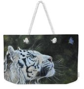 The White Tiger And The Butterfly Weekender Tote Bag