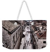 The White Tower In The Stradun From The Ramparts Weekender Tote Bag