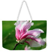 The Windblown Pink Magnolia 1 - Flora - Tree - Spring - Garden Weekender Tote Bag