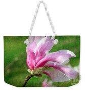 The Windblown Pink Magnolia - Flora - Tree - Spring - Garden Weekender Tote Bag