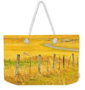 The Winding Road The Crooked Fence And The Bluebird Weekender Tote Bag