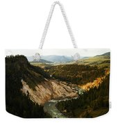 The Winding Yellowstone Weekender Tote Bag