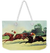 The Winning Post In Sight Weekender Tote Bag by Henry Stull