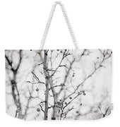 The Winter Pear Tree In Black And White Weekender Tote Bag