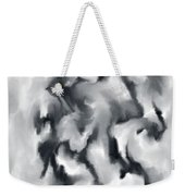 The Witch With Her Crows Charcoal Wash Weekender Tote Bag