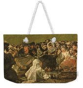 The Witches Sabbath Or The Great He-goat, One Of The Black Paintings, C.1821-23 Oil On Canvas Weekender Tote Bag