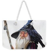 The Wizard And The Raven Weekender Tote Bag by J W Baker