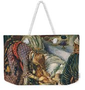 The Woman With The Box Of Ointment Weekender Tote Bag by Harold Copping