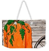 The Wooden Pumpkin Weekender Tote Bag